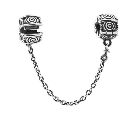 Pandora Sterling Silver Safety Chain with Clip - 5cm