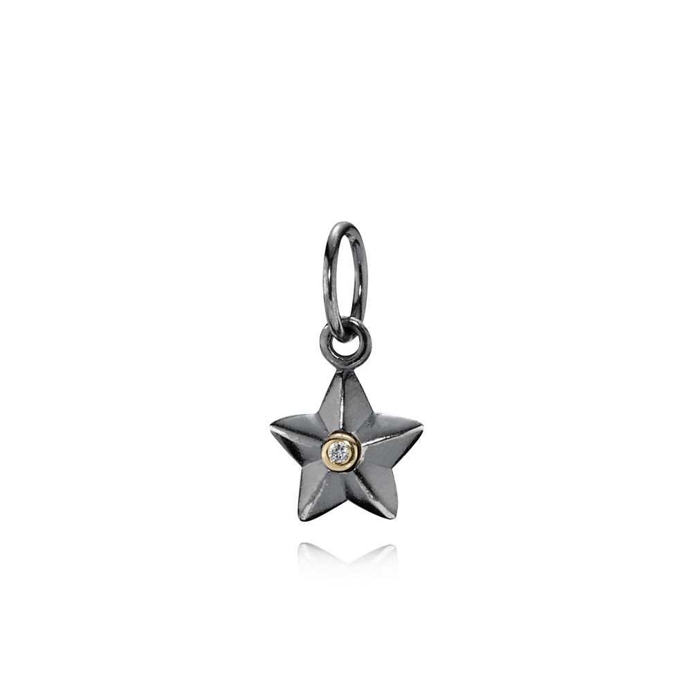 Pandora Sterling Silver 14ct Gold Star necklace