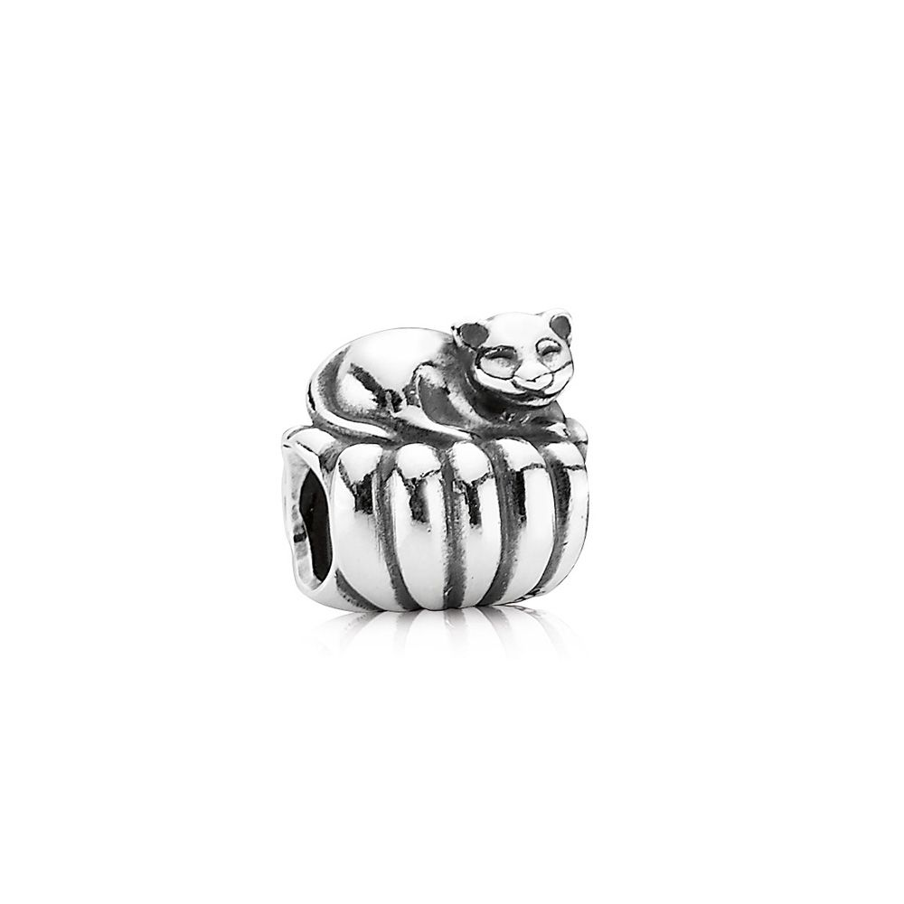 Pandora Sterling Silver Cat on a Cushion Charm