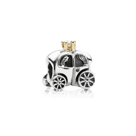 Pandora Sterling Silver and 14ct Gold Carriage Charm