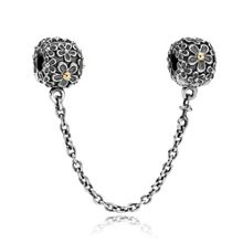 Pandora Sterling Silver 14ct Gold Flower Chain