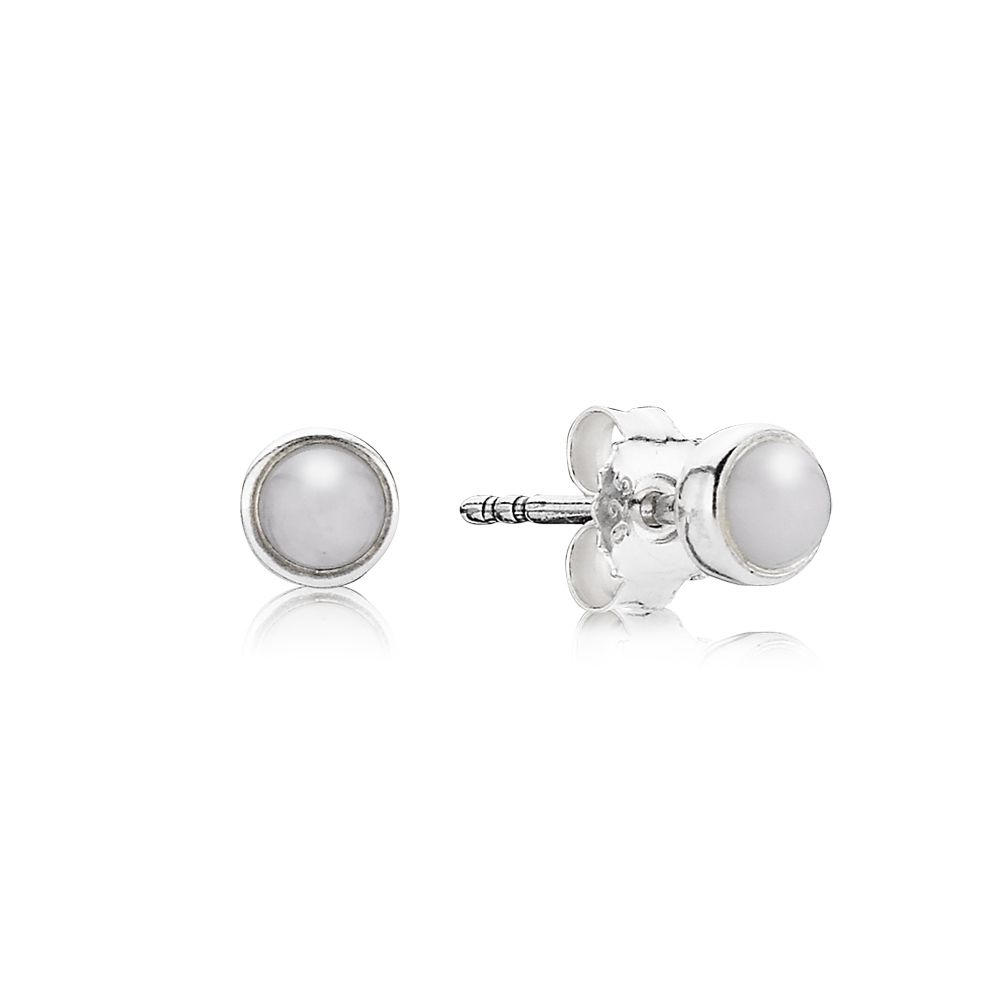 White Quartzite Stud Earrings
