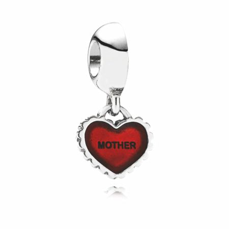 Pandora Red Enamel Mother/Daughter Charm