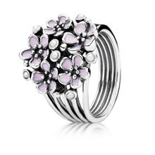 Pink cherry blossom flower ring