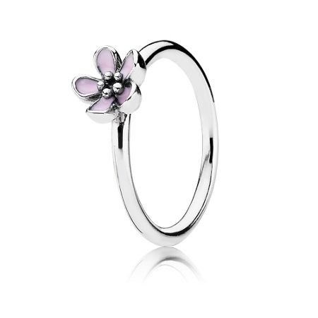 Pandora Pink cherry blossom flower ring