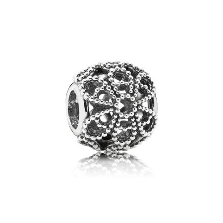 Pandora Openwork roses silver charm