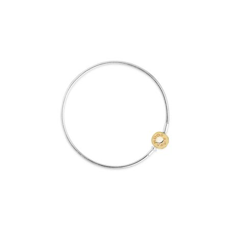 Pandora Essence collection silver bracelet with 14k clasp