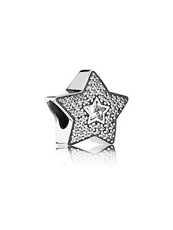 Pavé wishing star charm