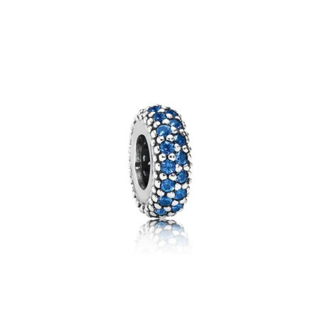 Pandora Blue pavé spacer