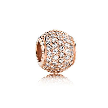 Pandora Rose pavé ball charm