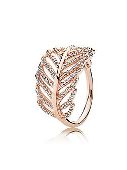 Rose feather ring
