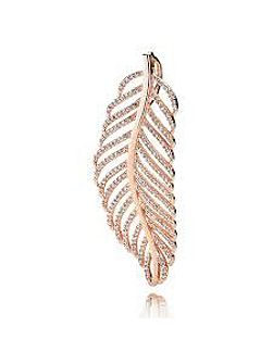 Rose feather pendant
