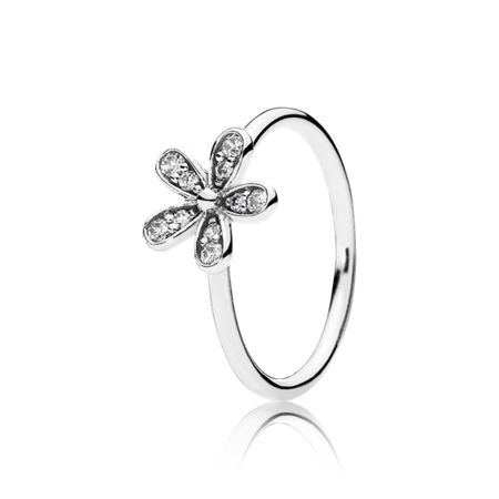 Pandora Daisy silver ring with cubic zirconia