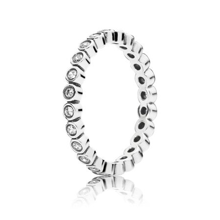 Pandora Small round eternity silver ring cz