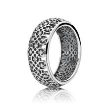 Pandora Decorative silver ring with cubic zirconia