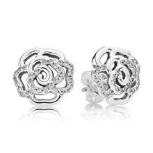 Shimmering rose earrings