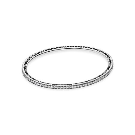Pandora Silver bangle with cubic zirconia
