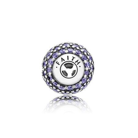 Pandora Faith essence collection charm purple cz
