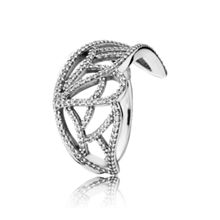 Butterfly wing silver ring cz