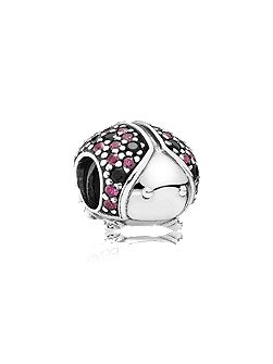 Pandora Ladybird pave silver charm fancy red cz