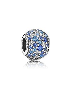 Pave silver charm charm