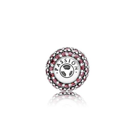 Pandora Passion essence collection charm in silver with f