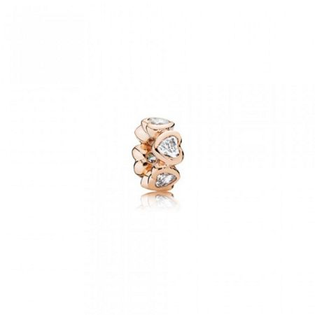 Pandora Rose sparkling hearts spacer