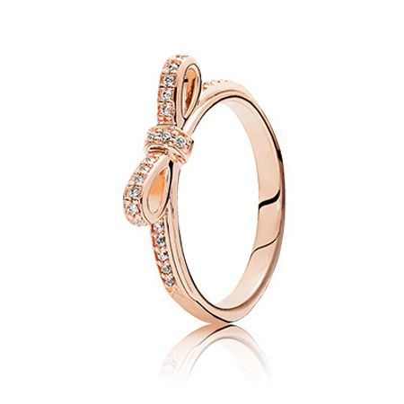 Pandora Rose bow ring