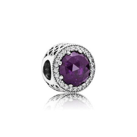 Pandora Royal purple radiant hearts charm