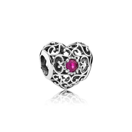 Pandora July signature heart birthstone charm