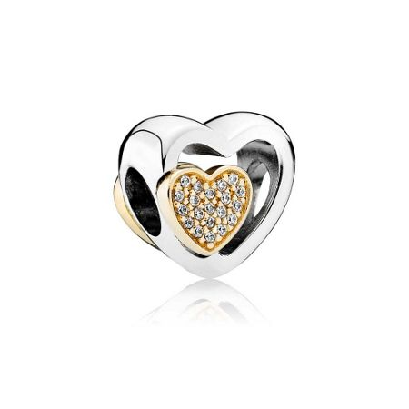Pandora Two hearts in one charm