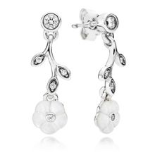 Pandora Pandora luminous floral drop earrings