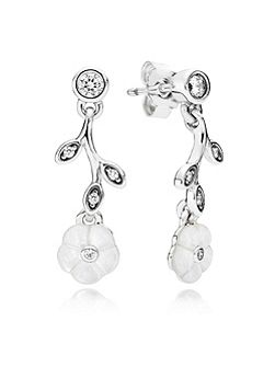 Pandora luminous floral drop earrings