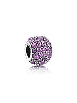 Purple shimmering droplets charm