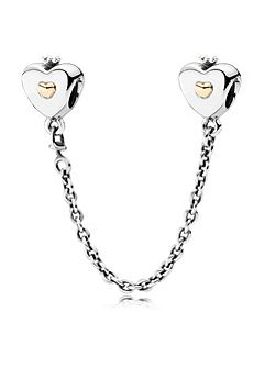 Pandora heart & crown safety chain 4cm