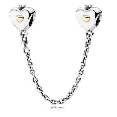 Pandora Pandora heart & crown safety chain 6cm