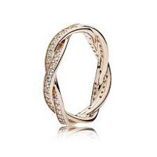 Pandora Rose twist of faith ring