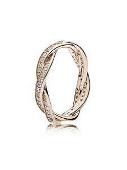 Rose twist of faith ring