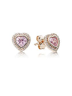 Rose sparkling love earrings