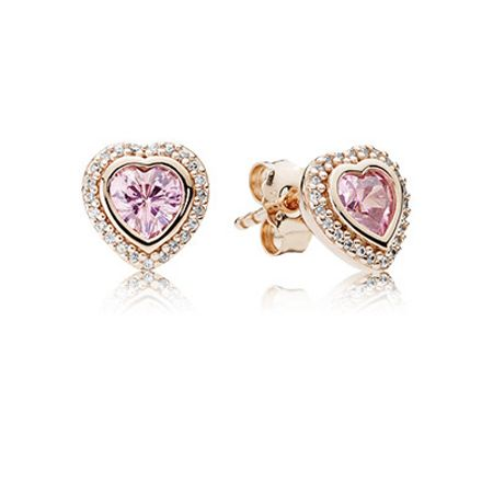 Pandora Rose sparkling love earrings