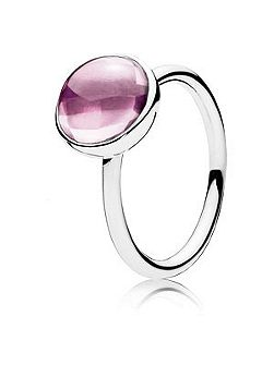 Pink poetic droplets ring