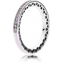 Pandora Pink hearts of pandora ring