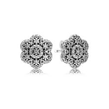 Pandora Ice florals stud earrings