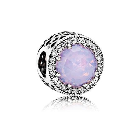 Pandora Opalescent pink radiant hearts charm