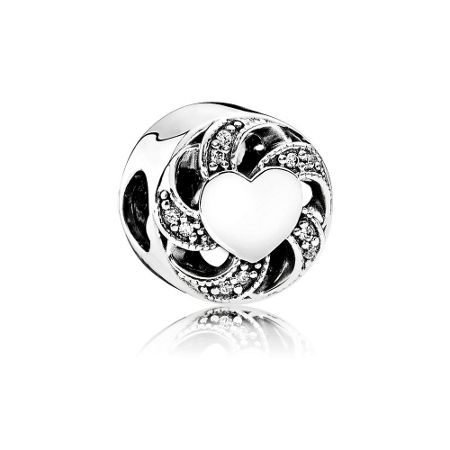 Pandora Ribbon heart charm