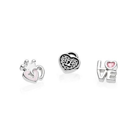 Pandora Loving hearts floating charm set