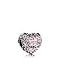 Pink Pave Open My Heart Charm