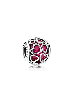 Cerise Encased in Love Charm