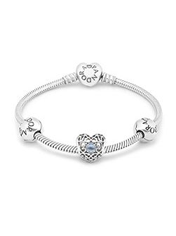 March Birthstone Bundle Bracelet- size 17cm