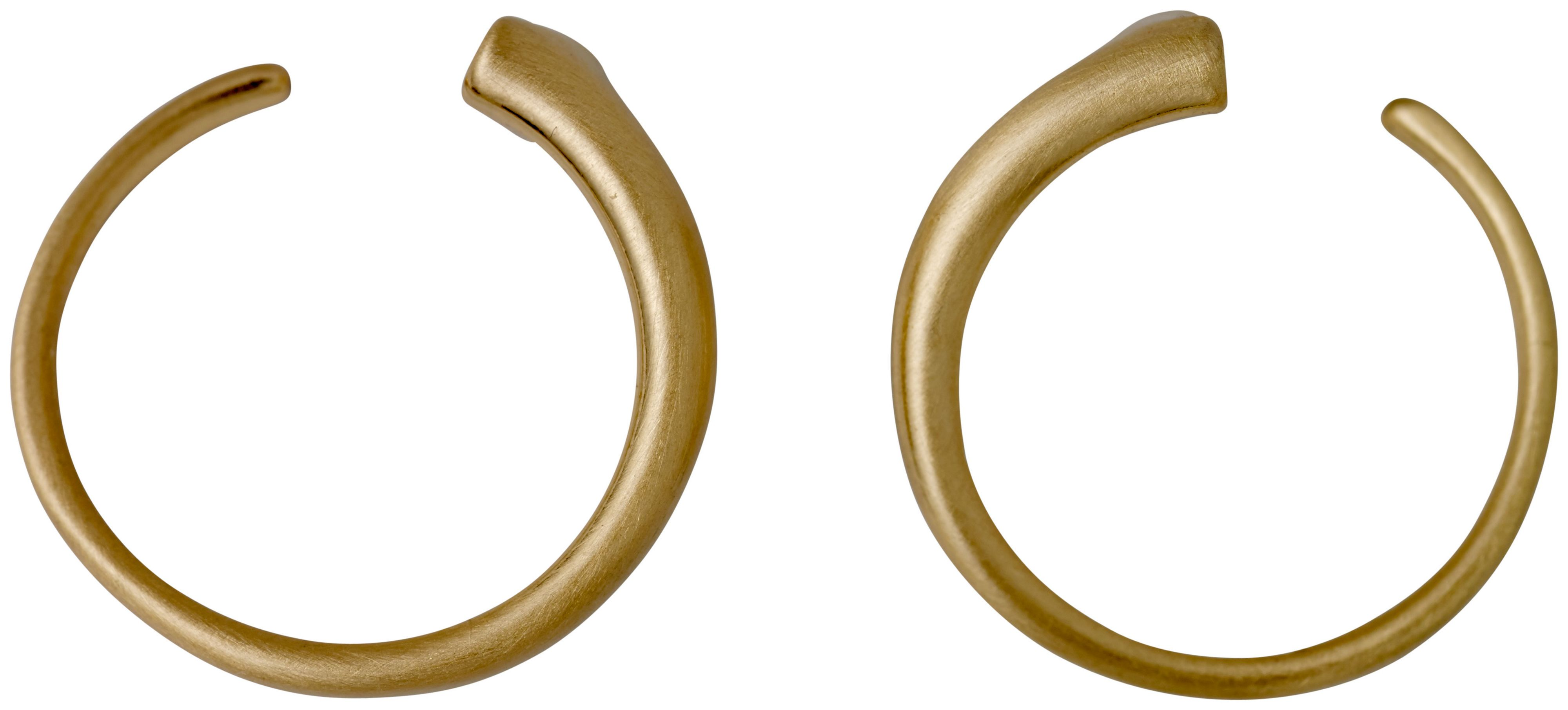 Pilgrim Gorgeous Gold Plated Round Earrings, Gold